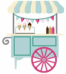 Ice Cream Cart embroidery design