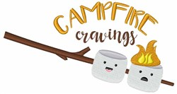 Campfire Cravings embroidery design