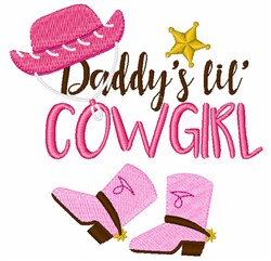Daddys Lil Cowgirl embroidery design
