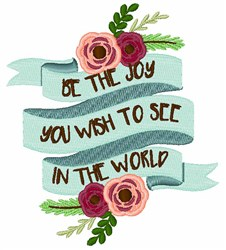 Be The Joy embroidery design