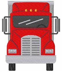 Tractor Trailer Truck embroidery design