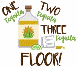 Tequila Countdown embroidery design