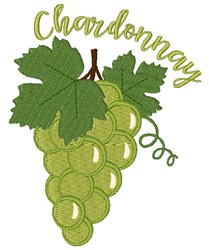 Chardonnay embroidery design