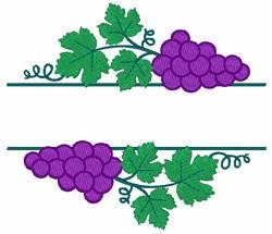 Grape Bunch Fruit Border embroidery design