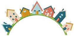 Neighborhood Houses embroidery design