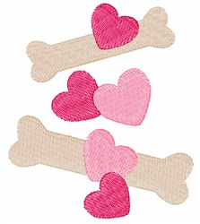 Bones And Hearts embroidery design