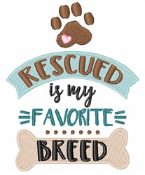 Favorite Breed embroidery design
