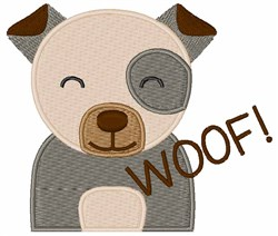 Woof! embroidery design