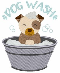 Dog Wash embroidery design