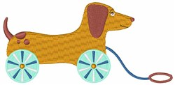 Dog Pull Toy embroidery design