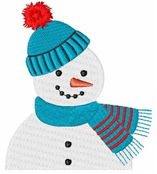 Snowman Pocket Topper embroidery design