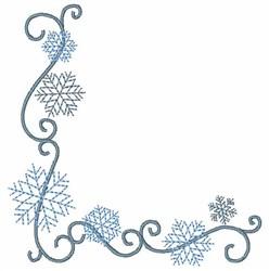 Snowflake Corner embroidery design
