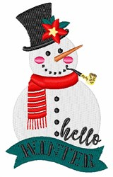 Hello Winter embroidery design