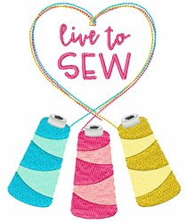 Live To Sew embroidery design