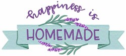 Homemade Is Happiness embroidery design