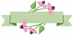 Echinacea Banner embroidery design