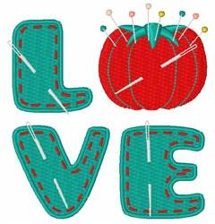 Love Pincushion embroidery design