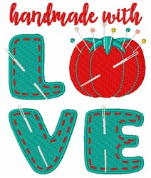 Handmade With Love embroidery design