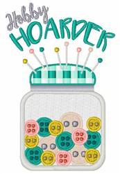 Hobby Hoarder embroidery design