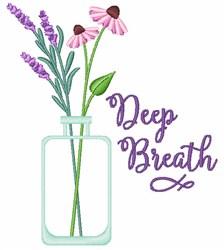 Deep Breath embroidery design