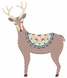 Folk Art Deer embroidery design