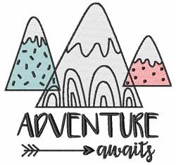 Adventure Awaits embroidery design