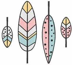 Modern Feathers embroidery design