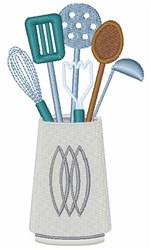 Kitchen Utensils embroidery design