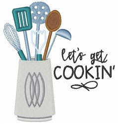 Lets Get Cookin embroidery design