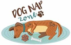 Dog Nap Zone embroidery design