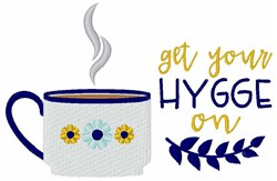 Get Hygge On embroidery design
