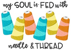 Needle & Thread embroidery design