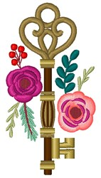 Secret Garden Key embroidery design