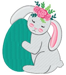 Easter Bunny Egg embroidery design