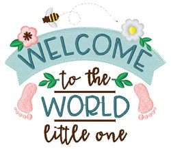 Welcome Little One embroidery design