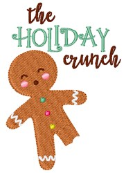 The Holiday Crunch embroidery design