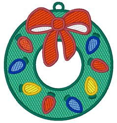 FSL Christmas Wreath embroidery design