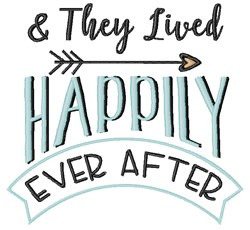 Happily Ever After embroidery design