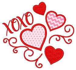Valentine XOXO embroidery design