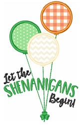 Let The Shenanigans Begin embroidery design
