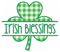 Irish Blessings embroidery design