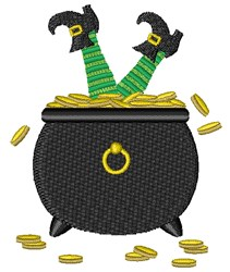 Leprechaun Pot O Gold embroidery design