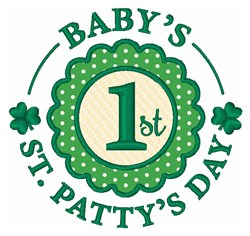 1st  St. Pattys Day embroidery design