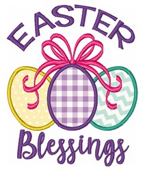 Easter Blessings embroidery design