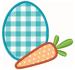 Easter Egg & Carrot embroidery design