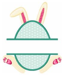 Easter Egg Name Split embroidery design