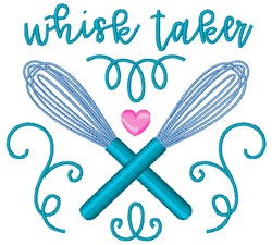 Whisk Taker embroidery design
