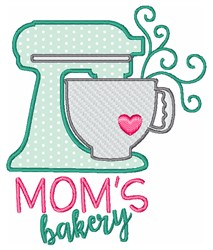 Moms Bakery embroidery design