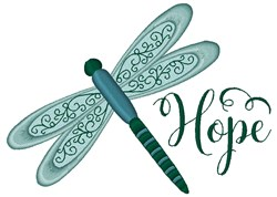 Dragonfly Hope embroidery design