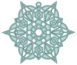 Christmas Snowflake Ornament embroidery design